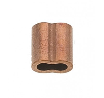 Manicotto in rame per pressatura cavo Ø2.5mm