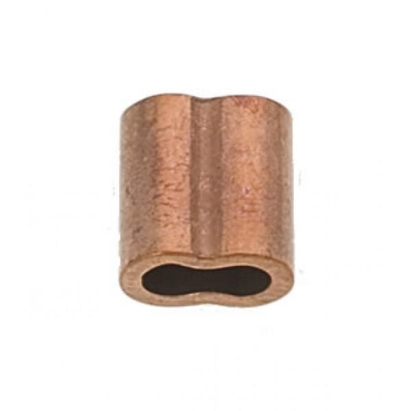 Viadana-46.05-Manicotto in rame per pressatura, Ø cavo 5mm, lunghezza 21mm-30